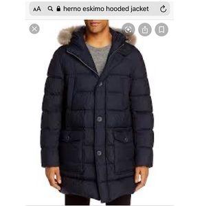 Herno Eskimo hooded jacket black 54/44us
